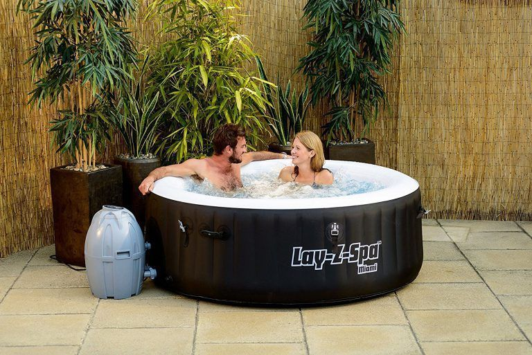 Spa Gonflable 2 Places Layz Spa Miami Spa Terrasse Jardin Piscine Extérieur Bienetre Detente Outdoor Spas Hot Tubs Round Hot Tub Best Inflatable Hot Tub