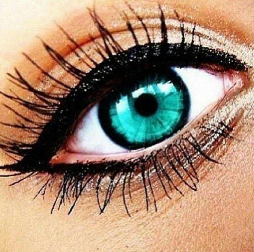 Aqua Blue Green Eye Color Beautiful 3 Makeup Makeup Tumblr Eye Makeup