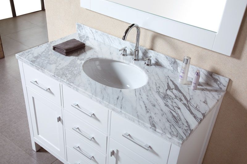 Contemporary Bathroom Vanities - contemporary - bathroom vanities and sink  consoles - miami - Vanities for Bathrooms - Like marble and white