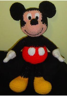 Patron Mickey Mouse Amigurumi Amigurumi Cartoontv Pinterest