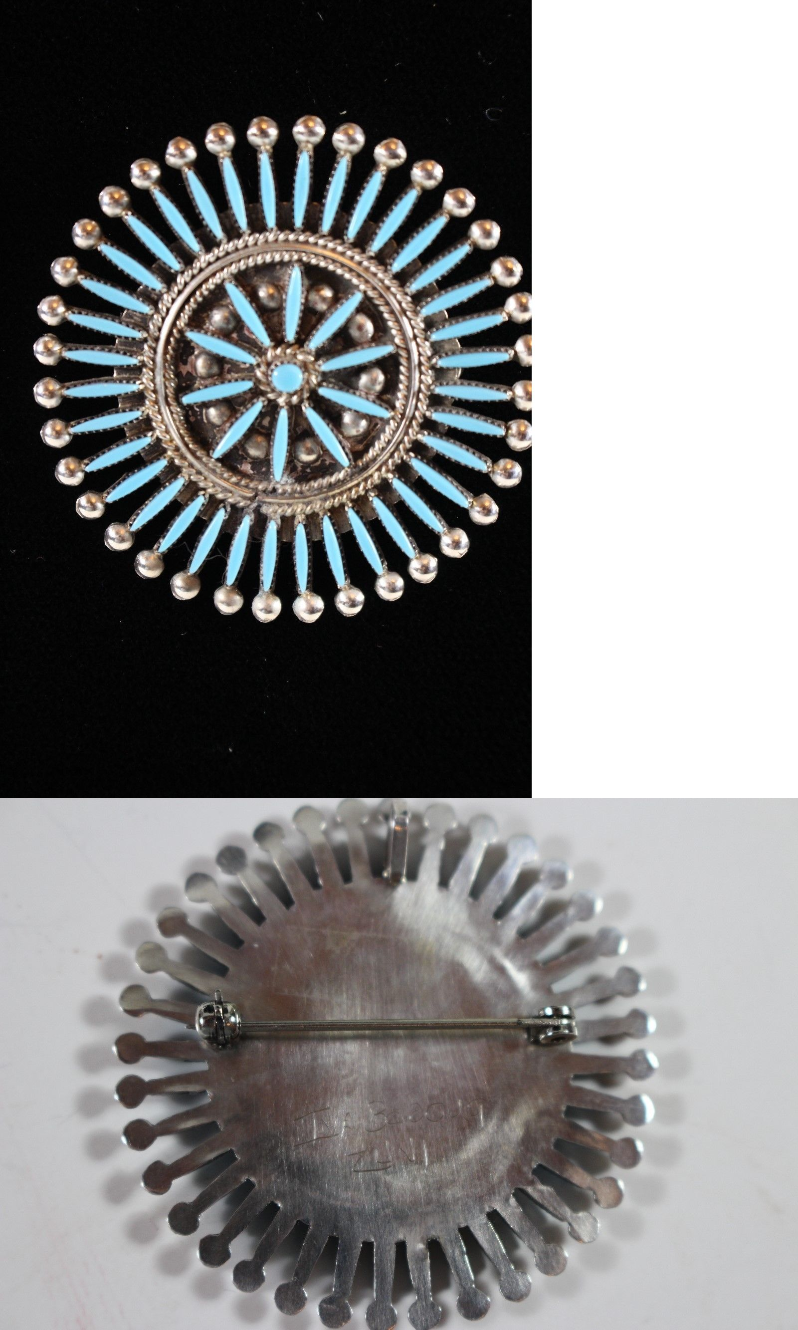 necklace il snake vintage zuni gallery eye listing photo pendant turquoise old cross fullxfull pawn