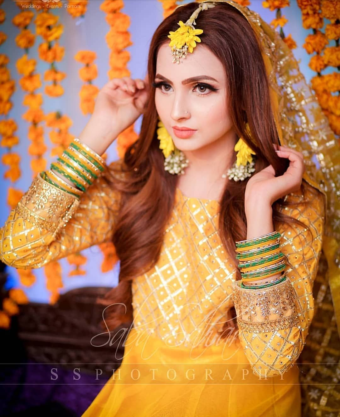 Gorgeous Fatima On Her Mayun Follow Shaadinaama Follow Shaadinaama Follow Shaadinaama Bridal Mehndi Dresses Bridal Photoshoot Pakistani Bridal Dresses