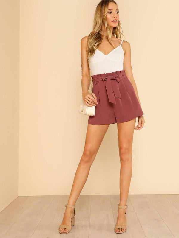 Catalogo Shein Primavera Verano 2020 Moda En Pasarela Tendencias De Moda Moda Pantalones Cortos Plisados
