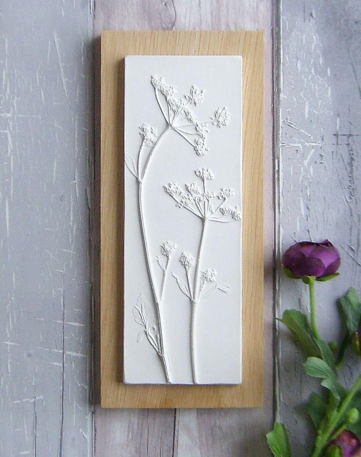 Ich werfe Pflanzen, Blumen und Gegenstände in Gips, um