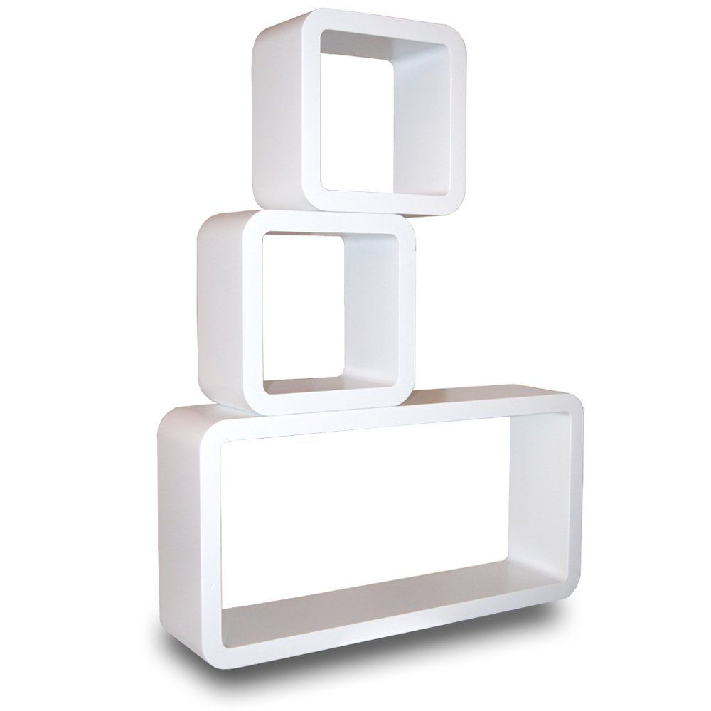 Mojo 3er Set Wandregal Retro Regal Vintage Cubes Design Shabby