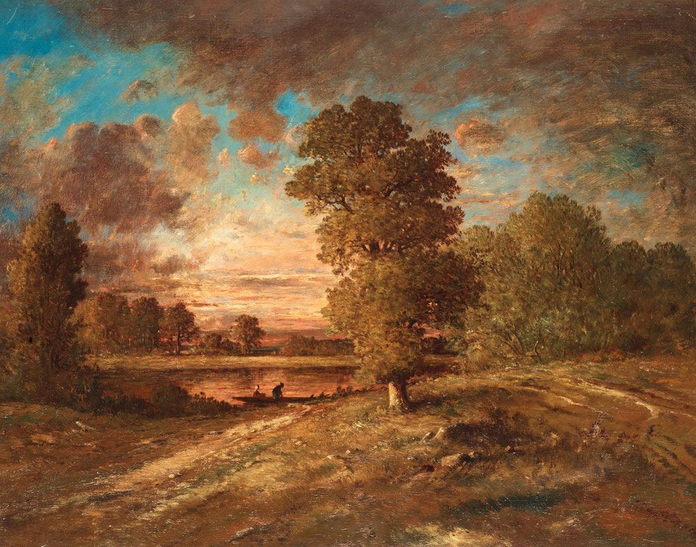 L 39 ecole de barbizon th odore rousseau paysage au for Barbizon peintre