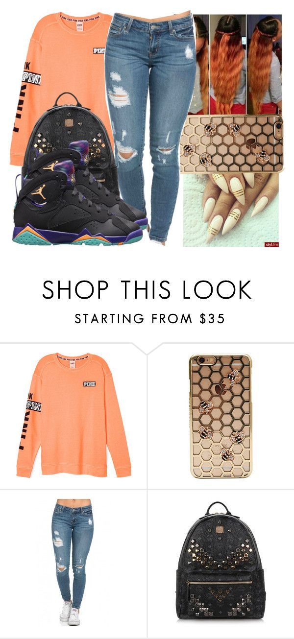 """""""Untitled #1038"""" by chynaloggins ❤ liked on Polyvore featuring MCM"""