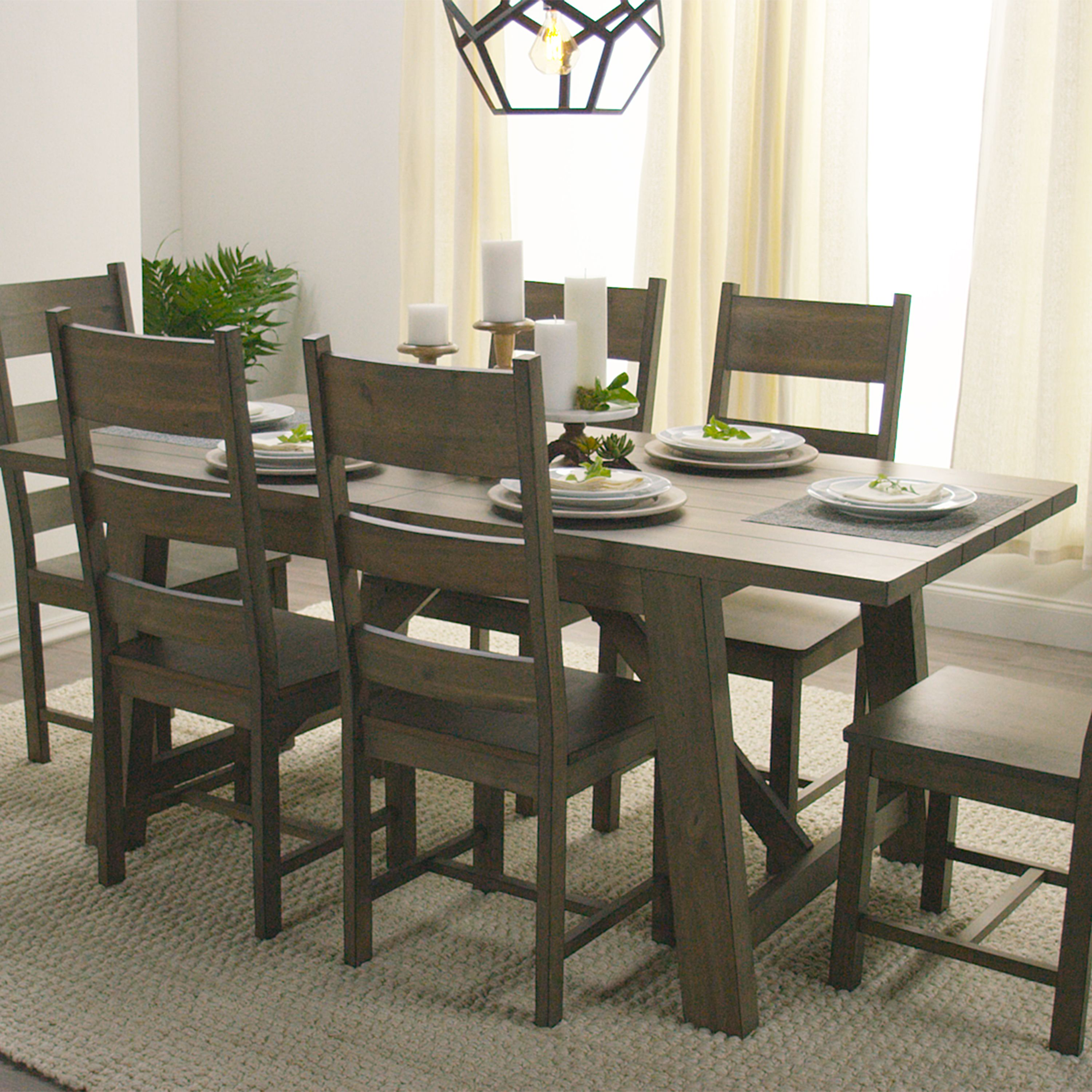 With A Weathered Brown Finish That Recalls Country Farmhouse Aesthetics,  Our Rustic Dining Table Offers