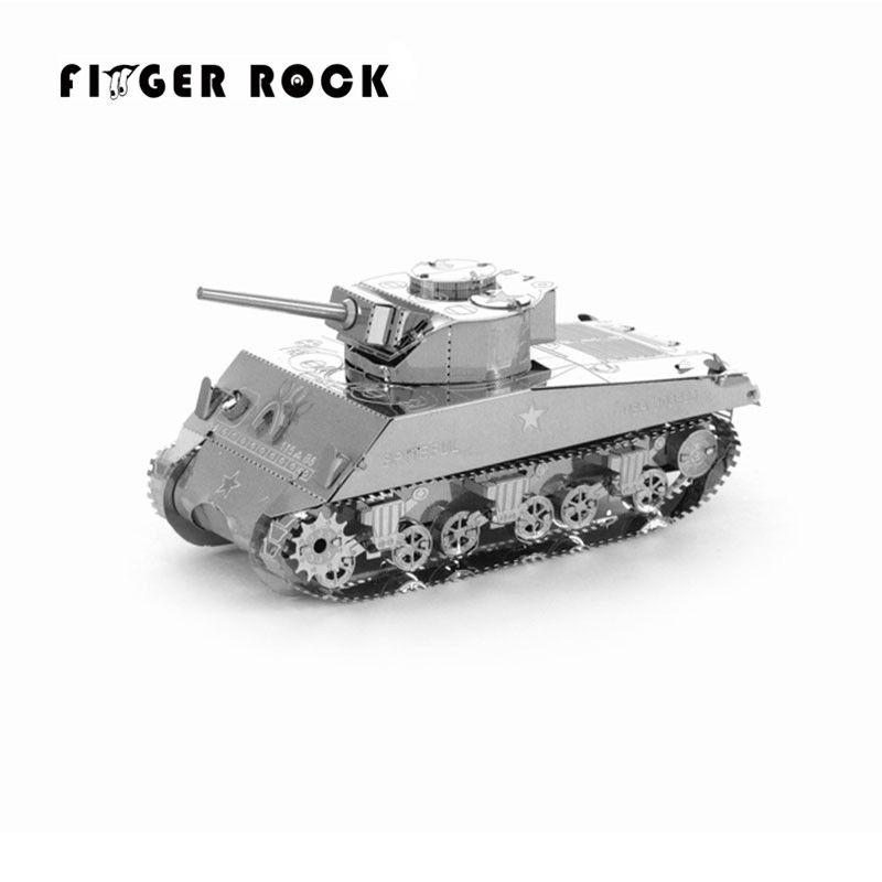 Finger rock 3d metall puzzle diy modell tiger tank kinder stichsägen spielzeug geschenk neujahr geschenk 4 stile