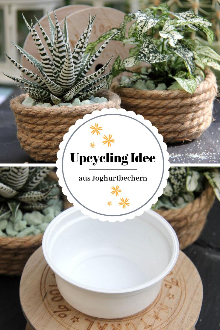 Das geht fix No. 47 - Blumentöpfe basteln aus Jutekordel - Tischlein deck dich #recyclingbasteln
