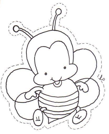 abeja bebe | animales | Pinterest | Abeja, Primavera y Dibujo