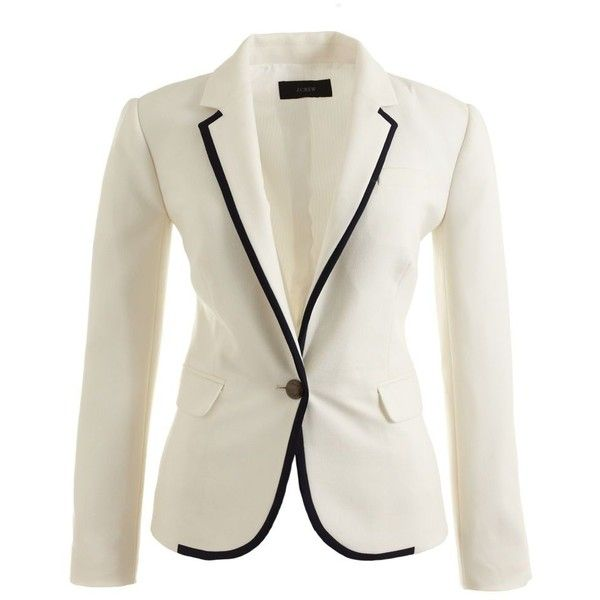 J.Crew Collection tipped wool blazer