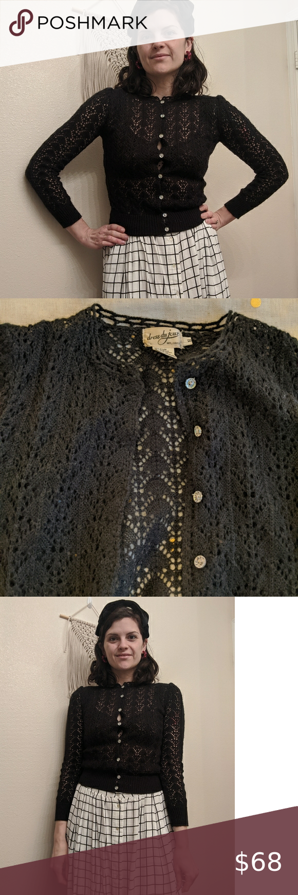 More Forties Inspired Flair: Vintage 30s/40s Style Cardigan This Gorgeous Vintage