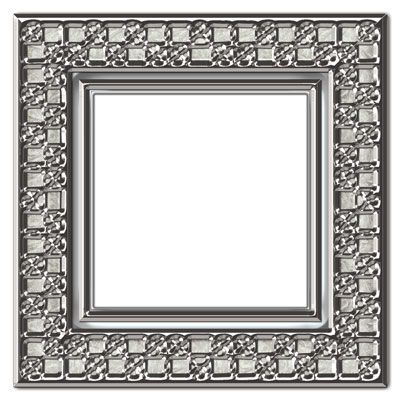 metallic frames in photoshop psd and png formats