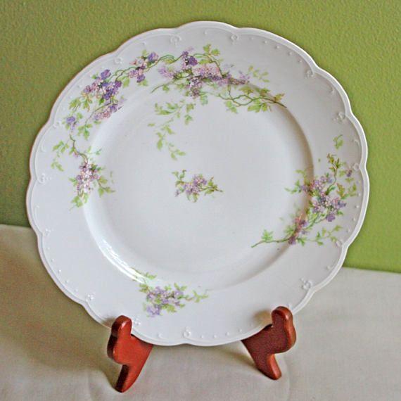 Antique Austrian Dinner Plate Replacement. M.Z. Austria & Antique Austrian Dinner Plate Replacement. M.Z. Austria | Porcelain ...
