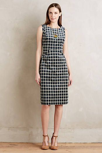 Corded Plaid Sheath 148.00