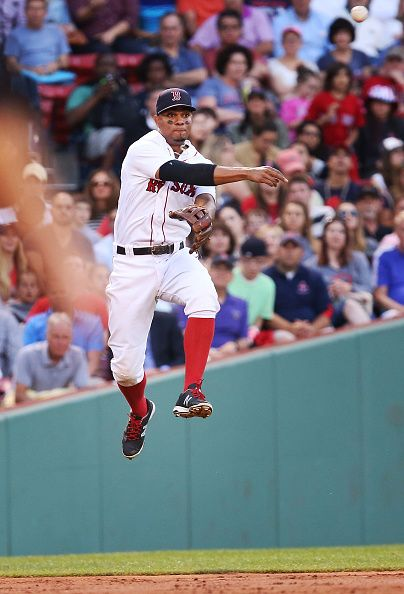 Xander Bogaerts Of The Boston Red Sox Throws To Second Base In The Third Inning During The Game Against The Chicago White Sox At Fenway Park On June