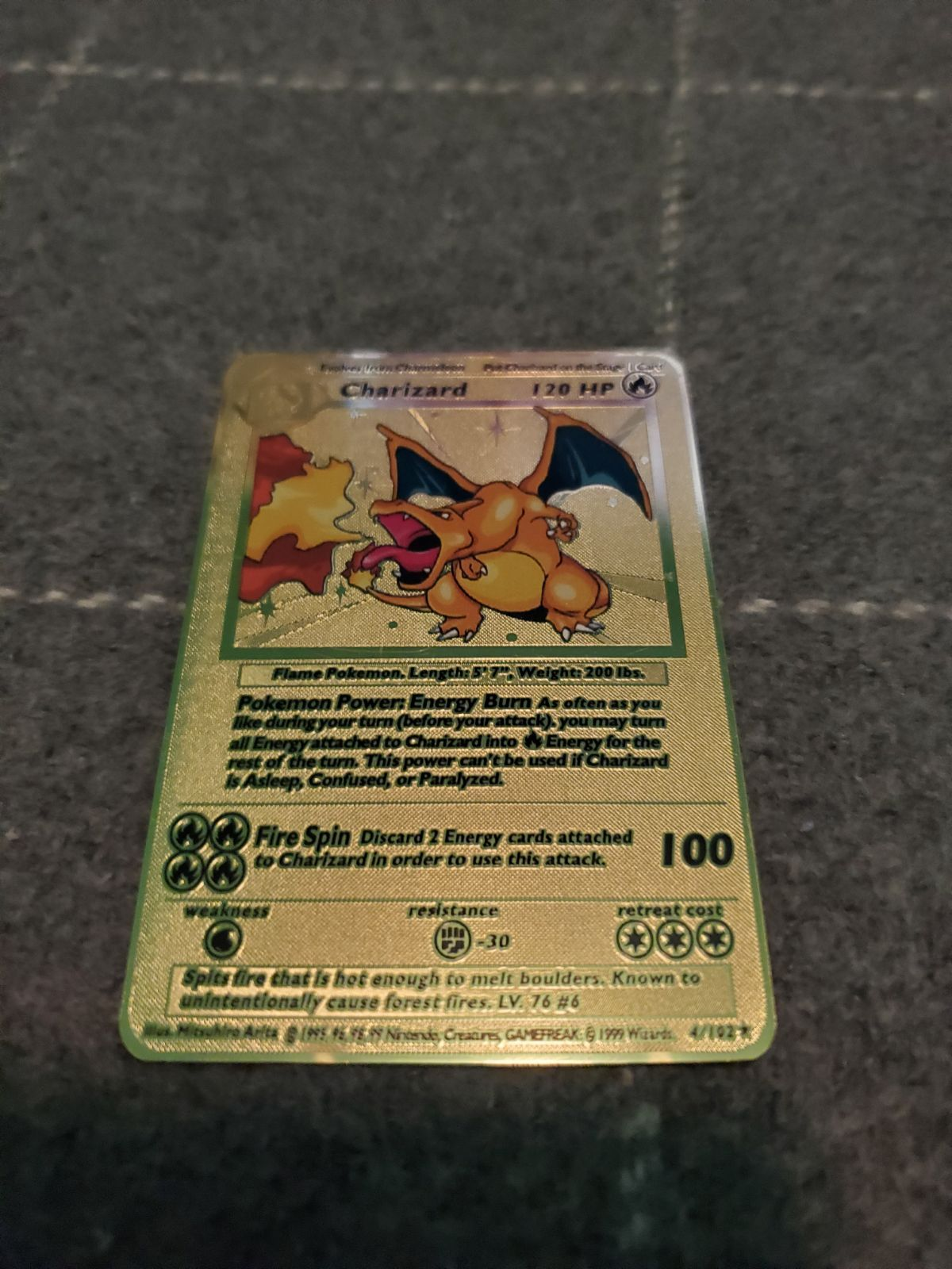 Amazing base set charizard gold card have a few others