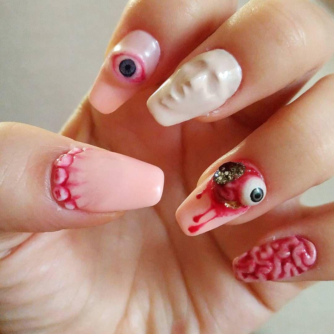 35 Creepy Halloween Nails For The Scary Holiday   Nail