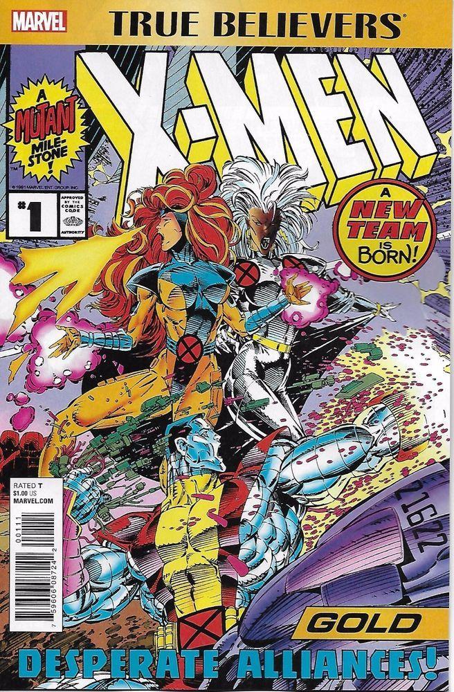 Marvel Astonishing X Men Gold Comic Issue 1 True Believers Marvel Comics Covers X Men Xmen Comics