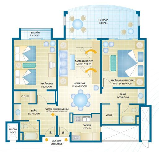 The royal sands cancun resort and spa royal resorts - Cancun 2 bedroom suites all inclusive ...
