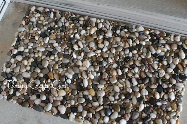 diy stone welcome mat