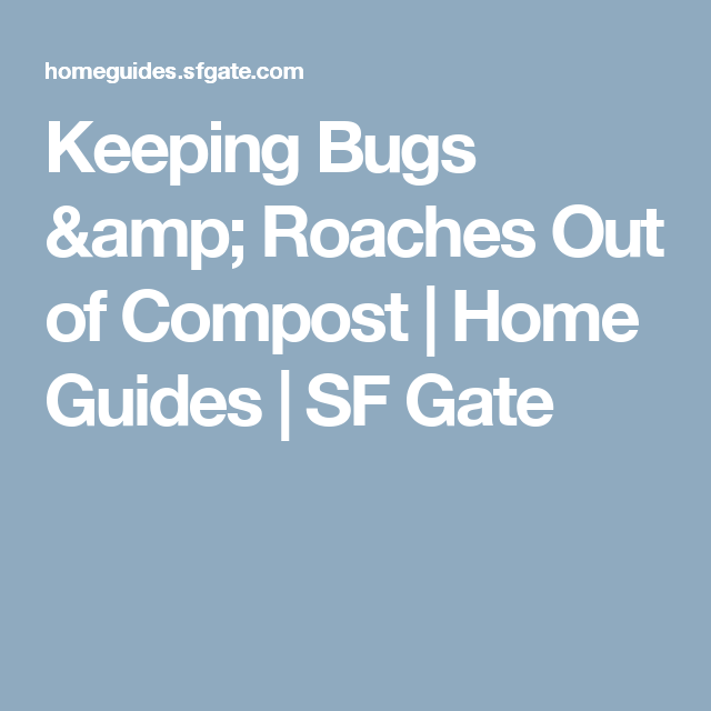 Keeping Bugs & Roaches Out Of Compost