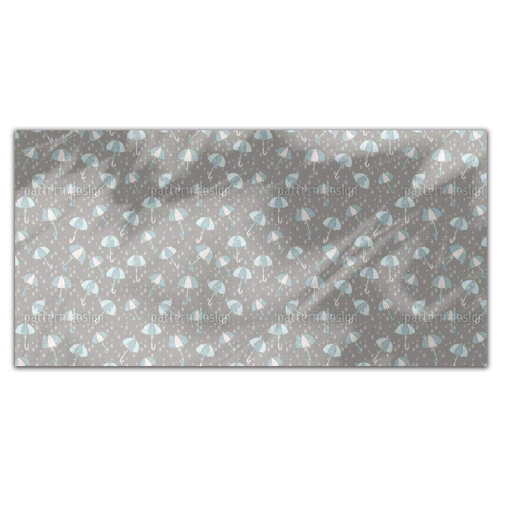 Uneekee Umbrellas In The Rain Rectangle Tablecloth (Medium), Multi (Polyester, Print)