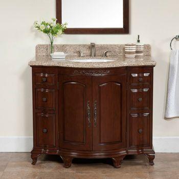6 Drawer Vanity With Granite Top Backsplash Costco 899 99