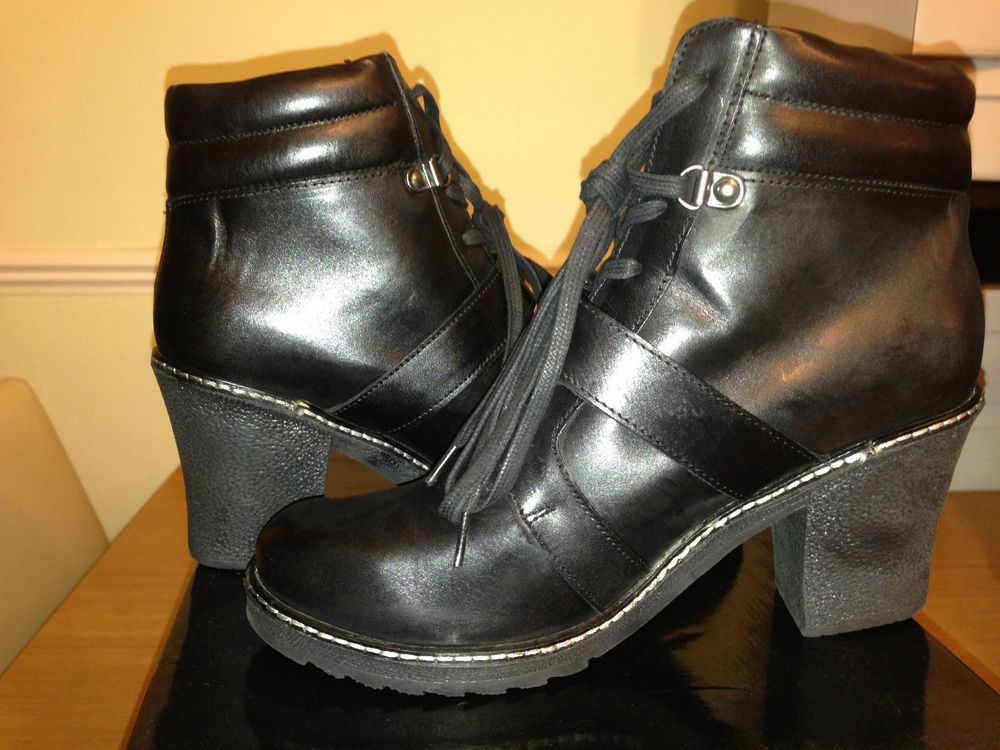 ASOS ARGENTINA Leather Ankle Boots in Black UK 7/EU 40/US 9 rrp £60