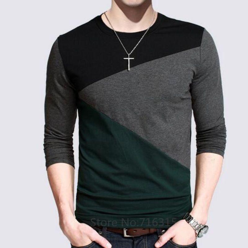 2017 أزياء الرجال عارضة قمصان طويلة الأكمام بولو قميص مقلم القطن جاهزة القميص للرجال زائد الحجم الأعلى تيز Mens Casual T Shirts Men Shirt Style Mens Tshirts