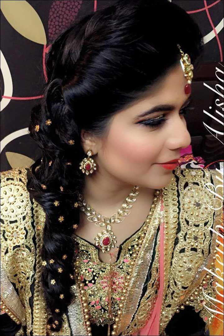 Curly Messy One Sided Braid1 720x1080 Pixels Wedding HairstylesWedding HairdosWedding Hair StylesBridal