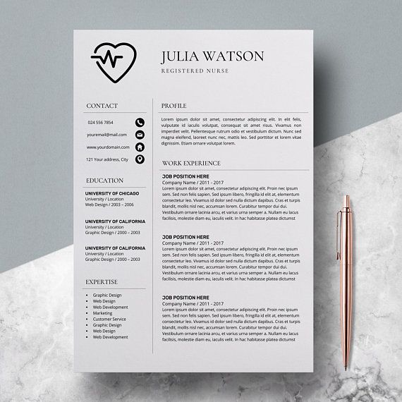 Professional Resume Template Nurse Cv Template Word Resume Nurse