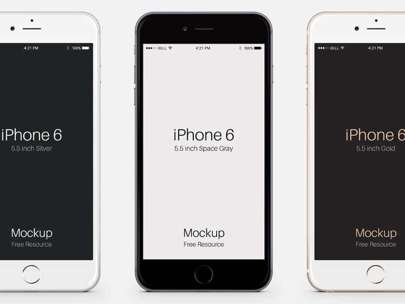Iphone 6 Plus Psd Vector Mockup Free Iphone 6 Iphone 6 Free Iphone 6 Plus