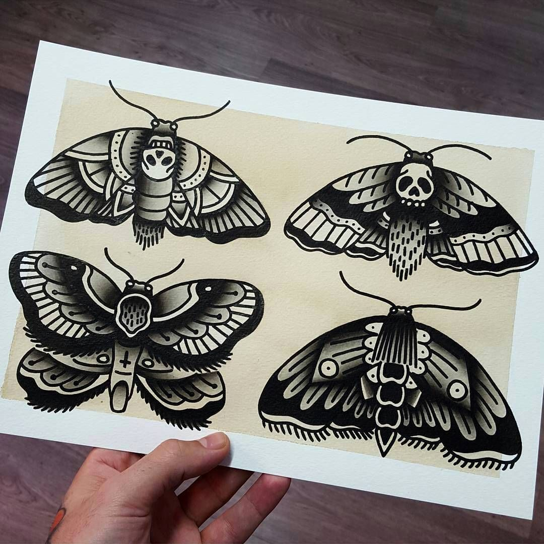 flash by rubenwayne traditional tattoo flash moth death traditional old school. Black Bedroom Furniture Sets. Home Design Ideas