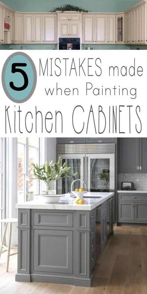 Mistakes People Make When Painting Kitchen Cabinets | Renovieren ...