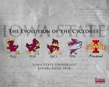 Iowa State University Evolution Of The Cyclones Team Logo History