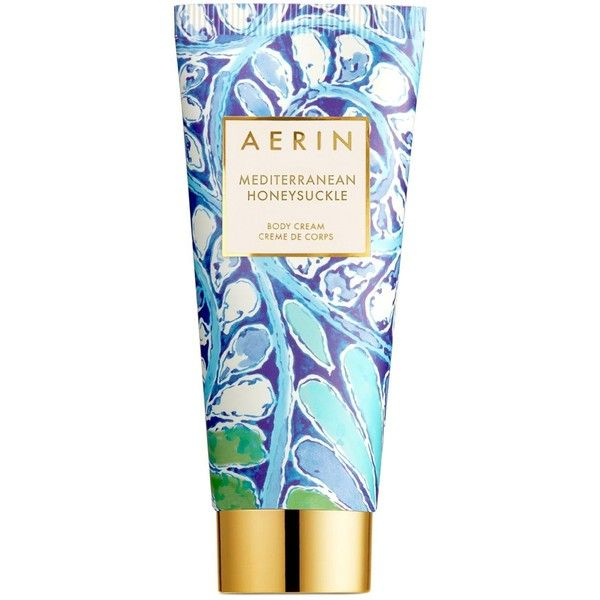 Aerin Mediterranean Honeysuckle Body Cream ($58) ❤ liked on Polyvore featuring beauty products, bath & body products, body moisturizers, no color and body moisturizer