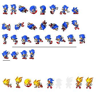 Classic Super Sonic Sprites Deviantart More Like Classic Sonic Sprites By Picsandpixels