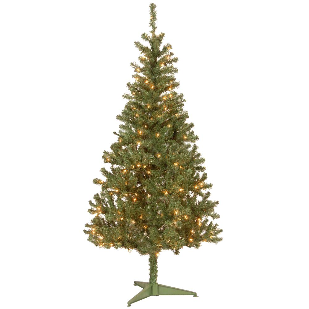 6 Ft Canadian Grande Fir Artificial Christmas Tree With Clear Lights Greens Pre Lit Christmas Tree Fir Christmas Tree Artifical Christmas Tree