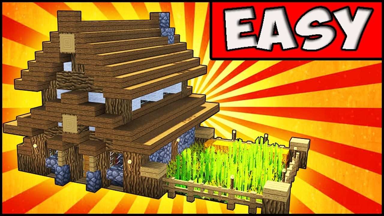 Minecraft how to build a SMALL and EASY survival house with a cute