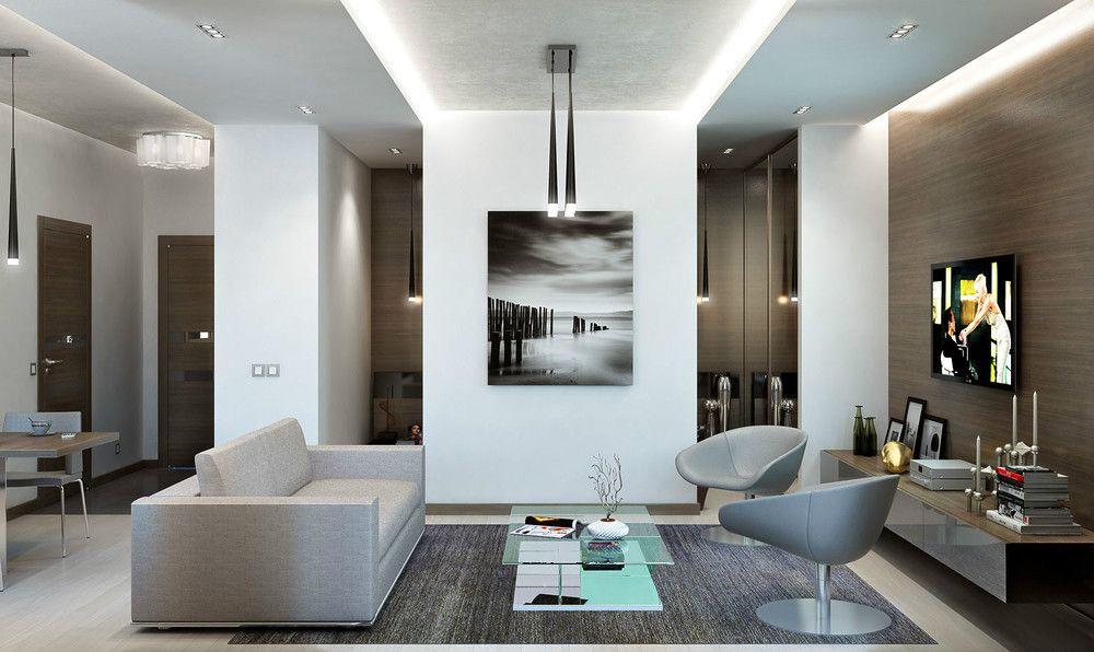 Znalezione obrazy dla zapytania modern man apartment living room