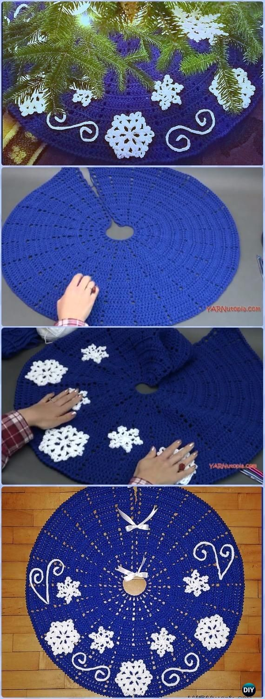 Crochet Fabulous Flurries Tree Skirt Free Pattern - Crochet ...