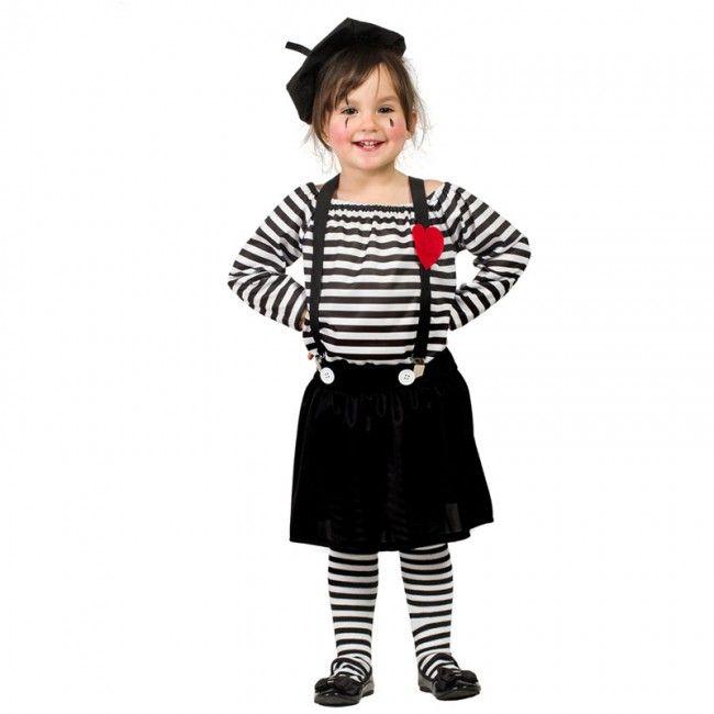 d guisement mime clown pour fille en 2018 d guisements. Black Bedroom Furniture Sets. Home Design Ideas
