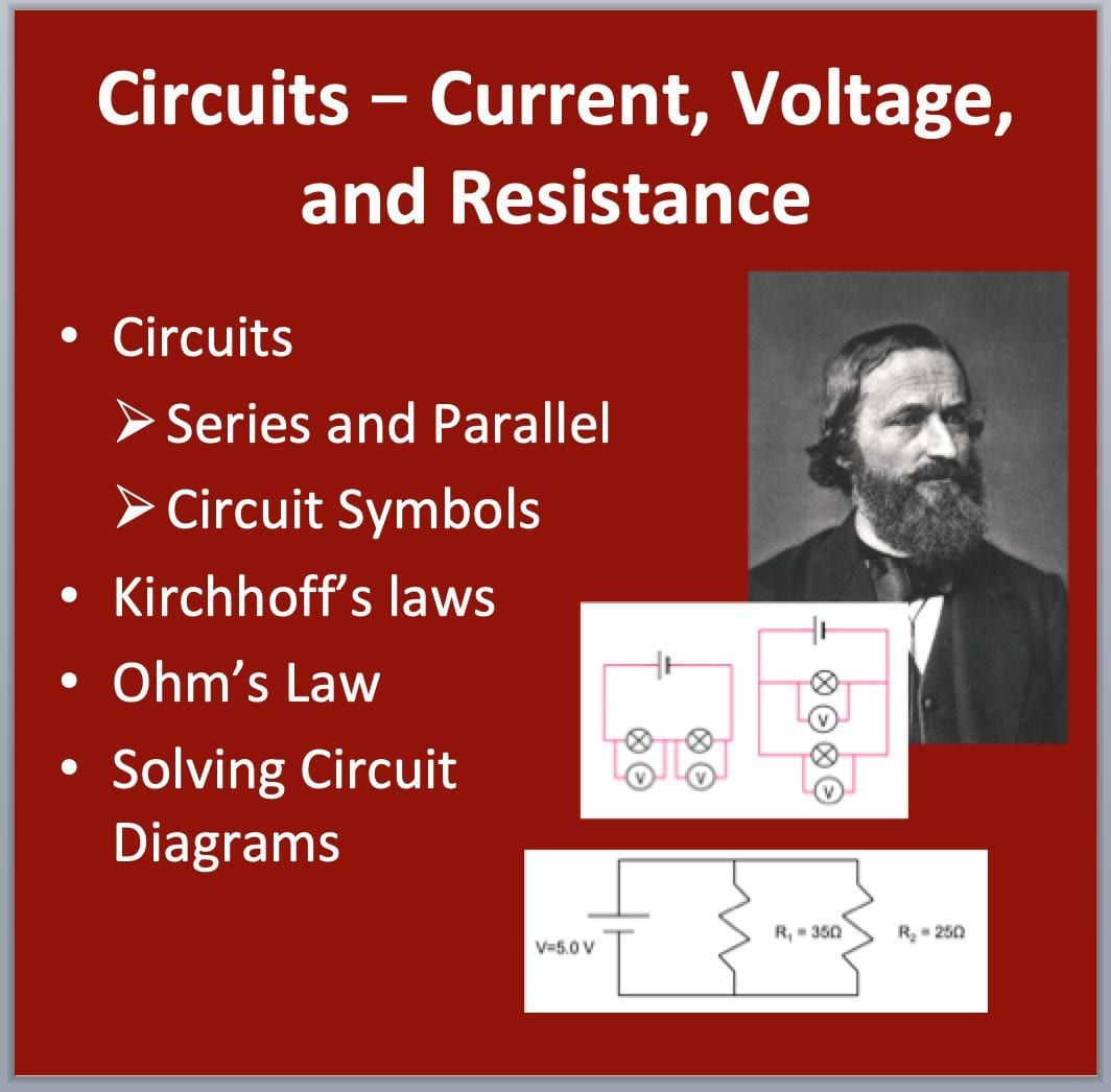 Electric Circuits Current Voltage And Resistance