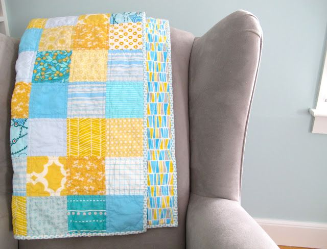 Six White Horses: Sunny Patchwork Baby Quilt