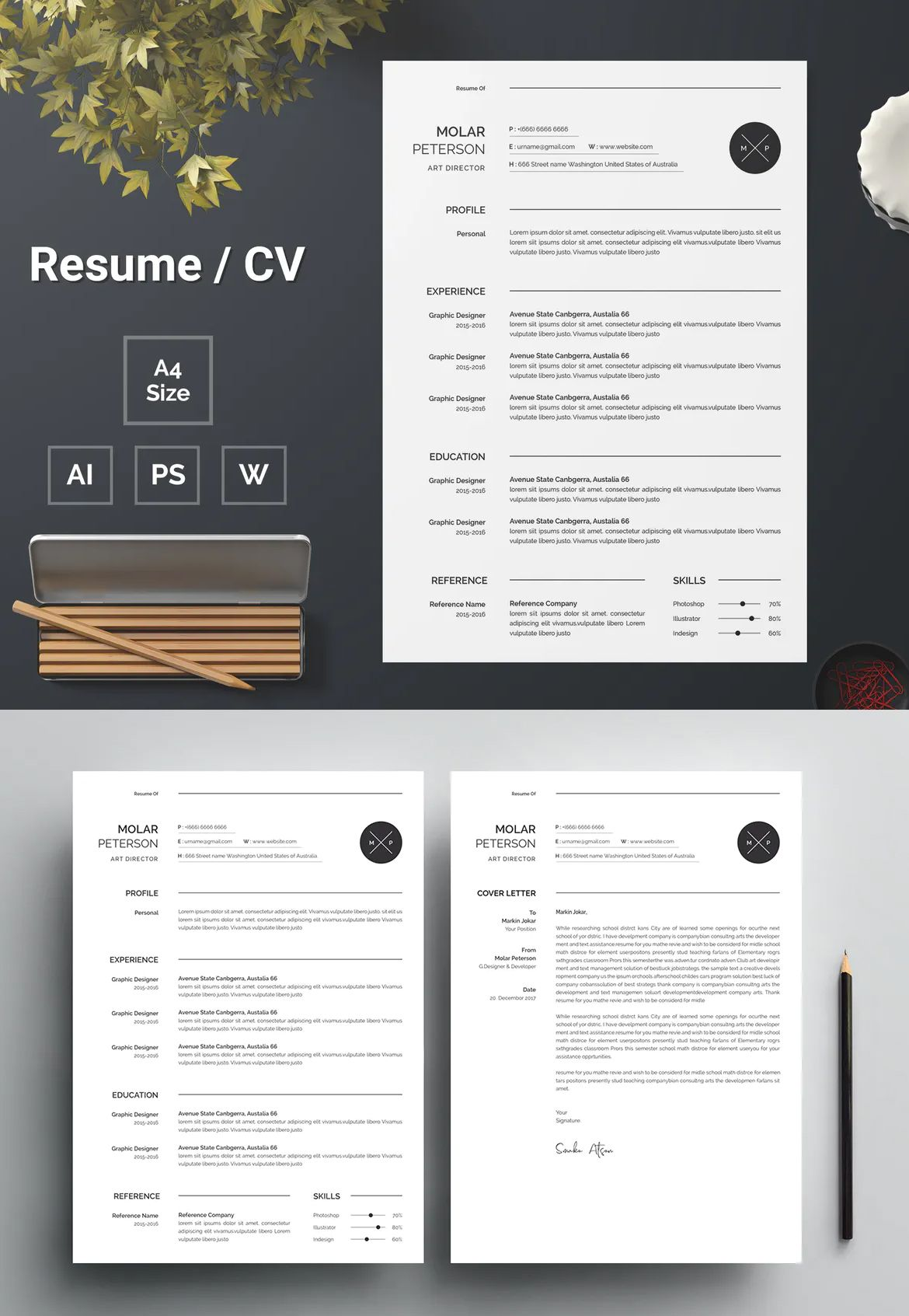 Resume Template 140 by bdthemes on Envato Elements