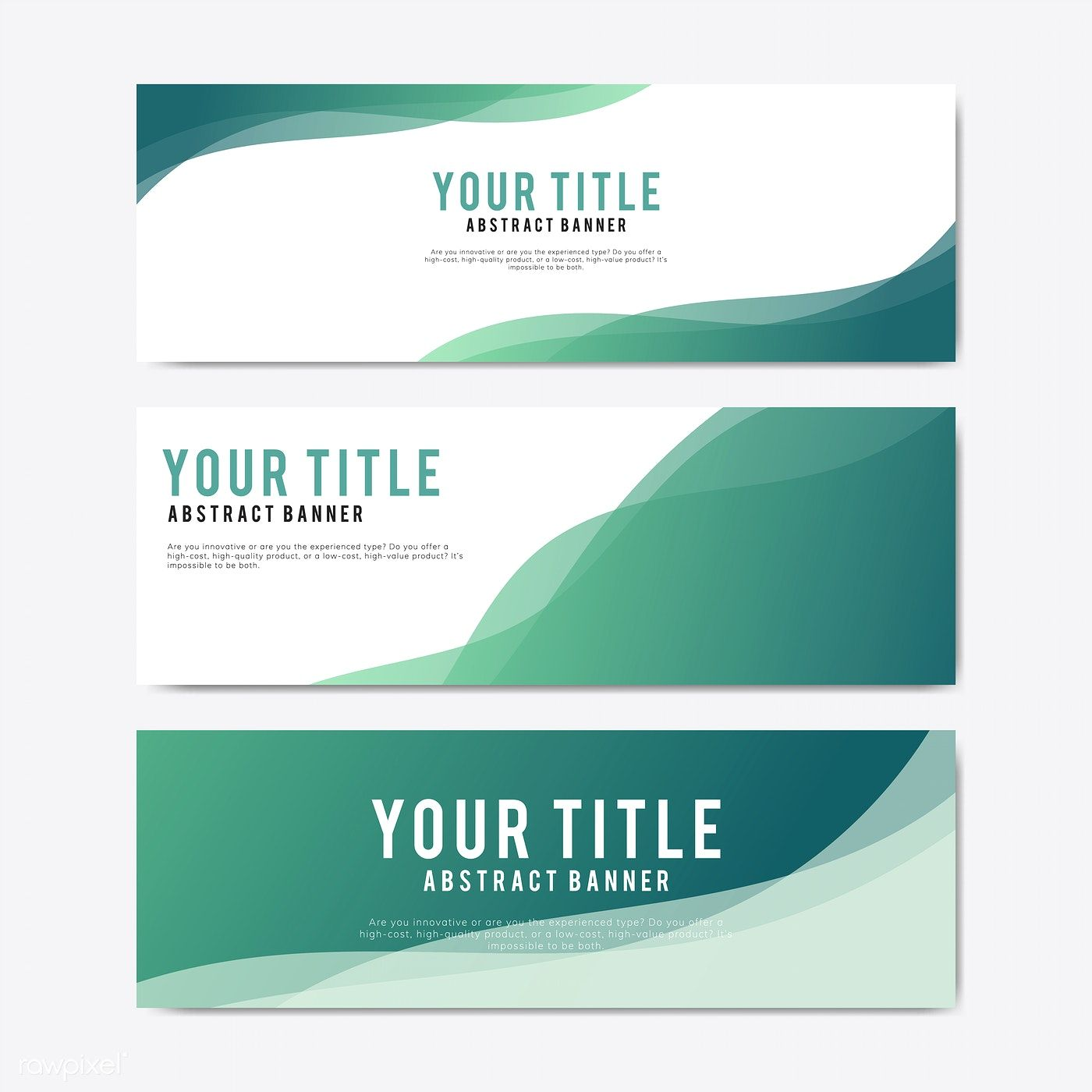Colorful And Abstract Banner Design Templates Free Image By Rawpixel Com 배너