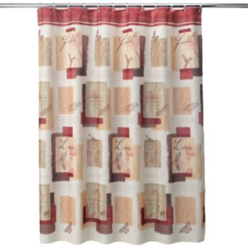 Inspire Block Fabric Shower Curtain Kohls.