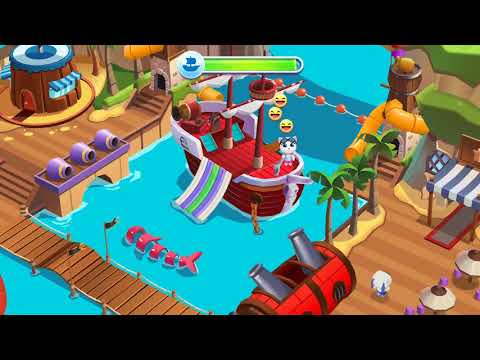 (4) Talking Tom Pool Building Octo Pool & Pirate Cove At